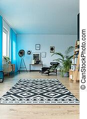 groß, stilvoll, wohnzimmer