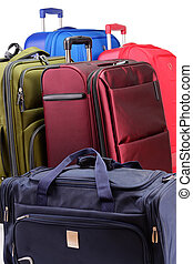 groß, suitcas, bestehen, gepäck