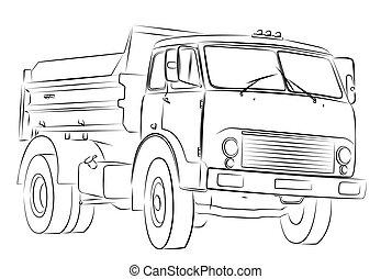 groß, truck.