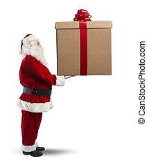 groß, weihnachtsgeschenk