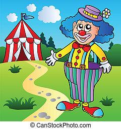 groß, zirkus, hose, clown, zelt
