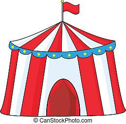 groß, zirkus zelt