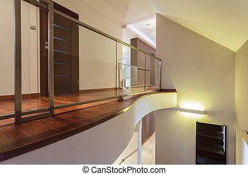 großartig, design, -, korridor