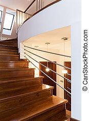 großartig, design, -, treppe