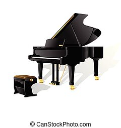 tastatur freigestellt vektor h nde klavier pianist wei es. Black Bedroom Furniture Sets. Home Design Ideas
