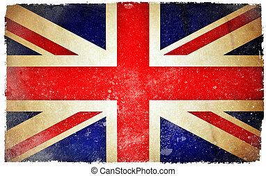 großbritannien, grunge, fahne