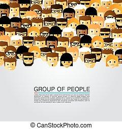 große gruppe, leute