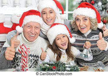 großeltern, enkelkinder, glücklich