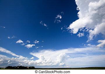 großer himmel, hintergrund
