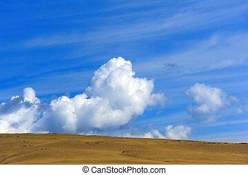 großer himmel, land