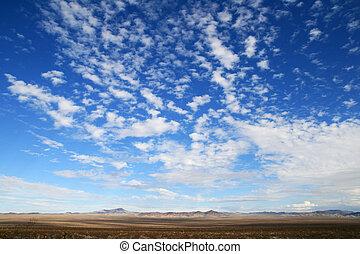 großer himmel, wüste