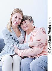 großmutter, enkelin, freundschaft, zwischen