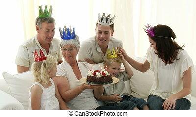 großmutter, haben, sie, pensionierung, p