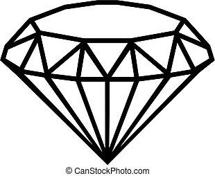 grobdarstellung, diamant