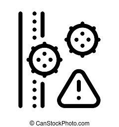 grobdarstellung, vektor, subkutan, ikone, abbildung, viren