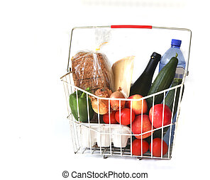 Groceries - Shopping basket with groceries