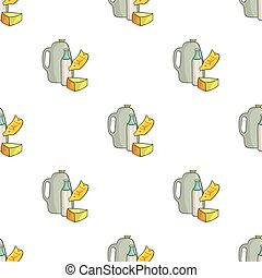 Grocery discount icon in cartoon style isolated on white background. Supermarket symbol stock vector illustration.