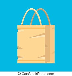 Grocery empty paper bag
