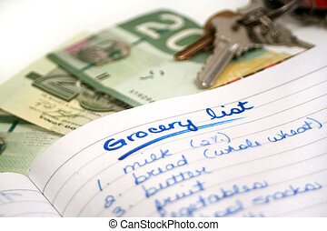 grocery list 2 - going shopping for groceries (my own...