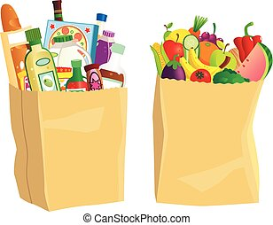 Grocery shopping bags.eps
