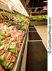 grocery slaan op, of, supermarkt