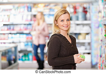 grocery store, úsměv