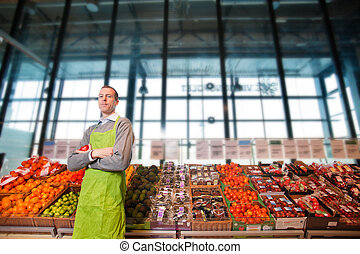 Grocery Store Owner Portrait - Portrait of a grocery store...