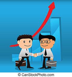 groei, grafieken, zakelijk, background10, handdruk