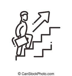 groei, moderne, -, vector, ontwerp, vervoerder, lijn, illustrative, pictogram