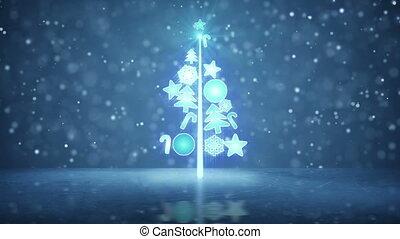 groeiende, boompje, lus, vakantie, kerstmis