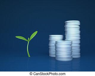 groeiende, fondsen, investeringen, /