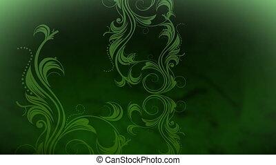 groeiende, wijngaarden, in, groene, kleur
