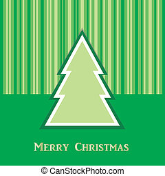groen boom, kerstmis kaart