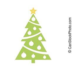 groen boom, kerstmis