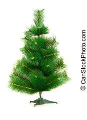 groen boom, vrijstaand, op, de, witte achtergrond