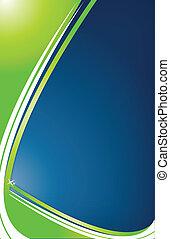 groen en blauwe, achtergrond