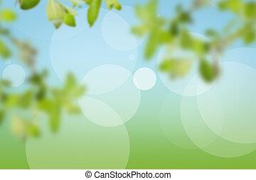 groen, gemaakt, natuurlijke , achtergrond