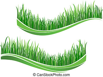 groen gras, golven