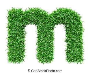 groen gras, m, brief