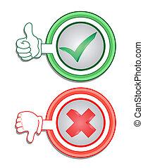 groen rood, pictogram