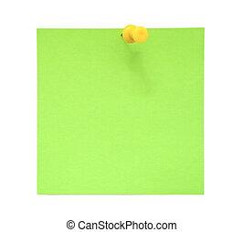 groene, aantekening, kleverig