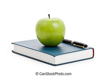groene appel, en, schoolboek