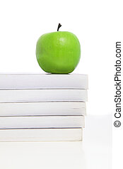 groene appel, op, menigte van boeekt