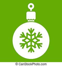 groene bal, boompje, kerstmis, pictogram