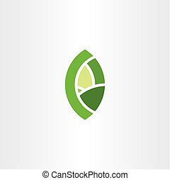 groene, bio, blad, eco, symbool, pictogram, logo, element, meldingsbord