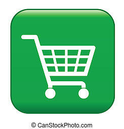 groene, boodschappenmand, meldingsbord, ecologisch, shoppen