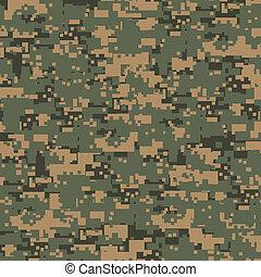 groene, camouflage, digitale
