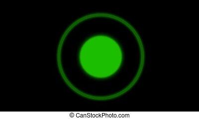 groene, cirkel, achtergrond, lus