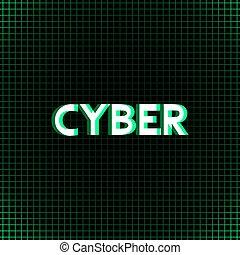 groene, cyber, boodschap