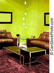 groene, detail, levend